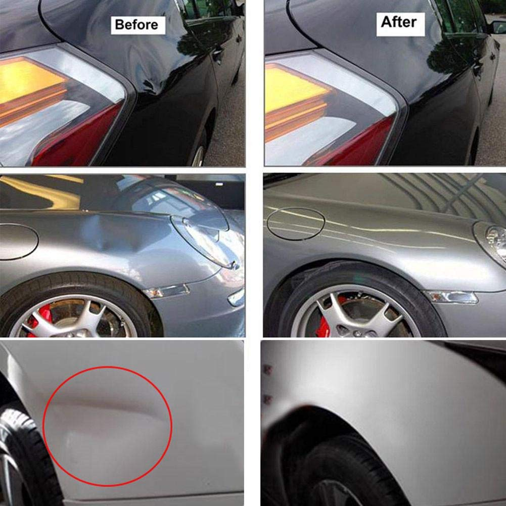 Rods Dent Hail Repair of Hail Dents and Door Ding Dent Repair Rods Kit RUNGAO 3 Pieces Paintless Dent Removal Tools Black