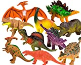 Toysery Realistic Looking Dinosaurs Toys Set for kids - Plastic Assorted Dinosaur Toys Figures - Pack of 10pcs, 5-Inches''