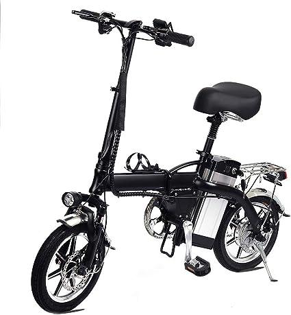 Lamtwheel Bicicleta Eléctrica De La Ciudad Plegable De La Bicicleta, Bicicleta Eléctrica Ebike con Motor Sin Escobillas 350W Y Batería De Litio De 48V 10Ah, Tres Modos(hasta 35 km/h): Amazon.es: Deportes y