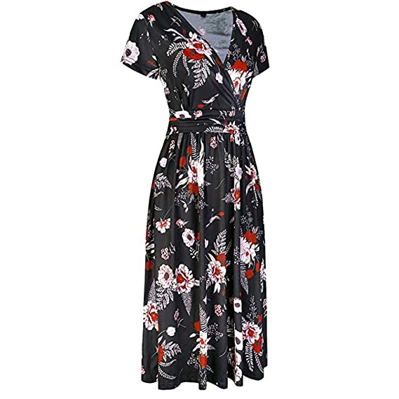 Amazon.com: Sharemen Womens Plus Size Cold Shoulder Floral Slit Hem Tropical Summer Maxi Dress: Clothing