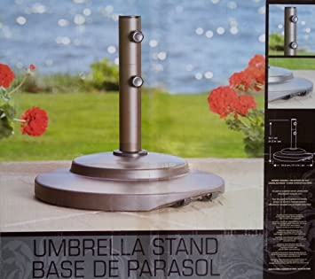 New Outdoor Patio Garden Cast Iron Umbrella Base / Stand With Wheels