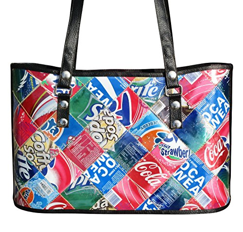 Handbag made from upcycled soda can - FREE SHIPPING - upcycled vegan recycled handmade unique bag cement sack organic gift gifts earth lover lovers upcycling recycling upcycle eco friendly ()