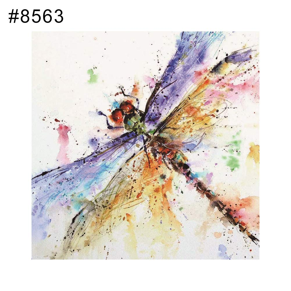narutosak 5D Diamond Painting Butterfly Dragonfly Full Painting Cross Stitch Embroidery Wall Decor - 8563