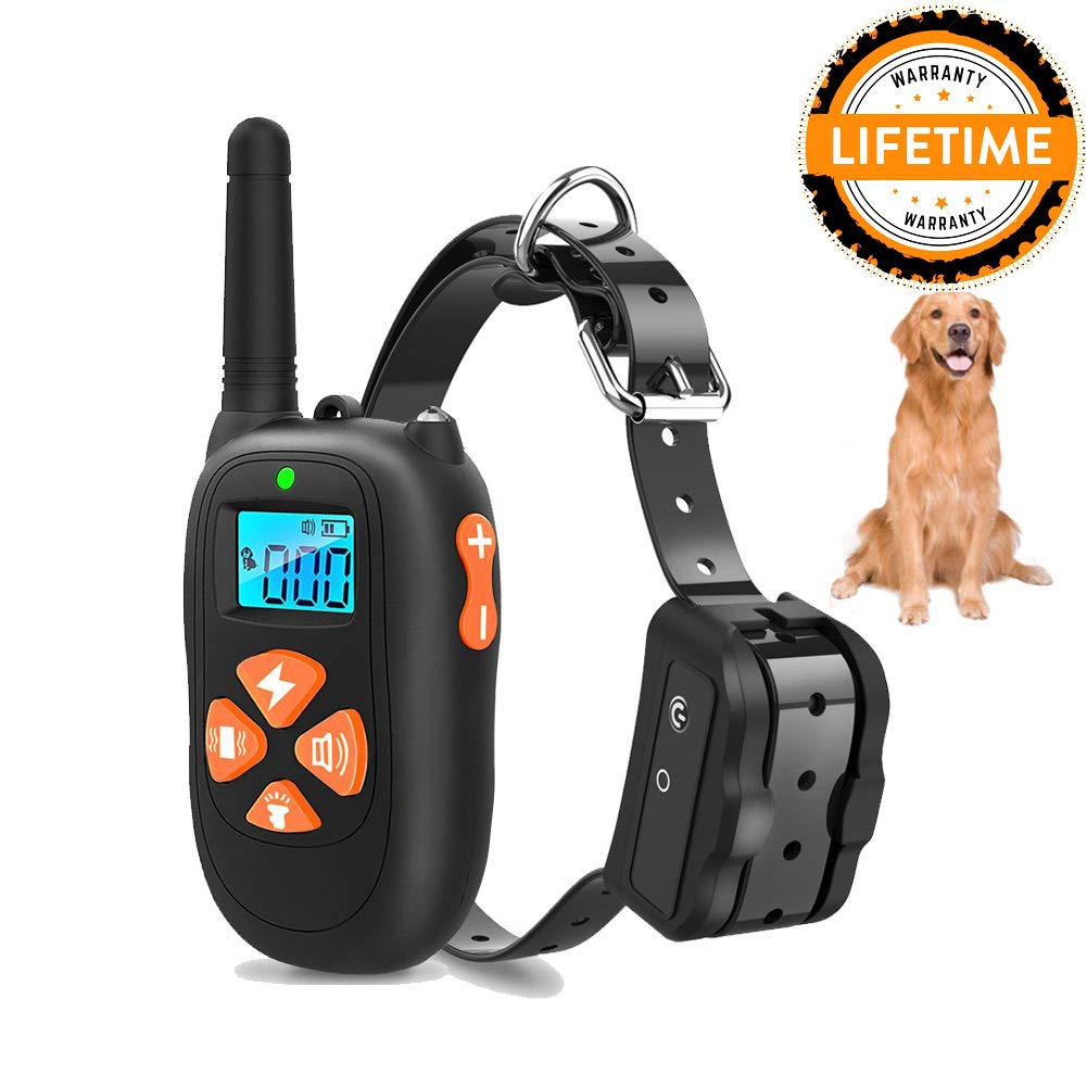 Dog Training Collar Shock Collars with Beep 0~99 Shock & Vibration Levels Waterproof Rechargeable 1450ft Remote Range Electronic for All Dogs