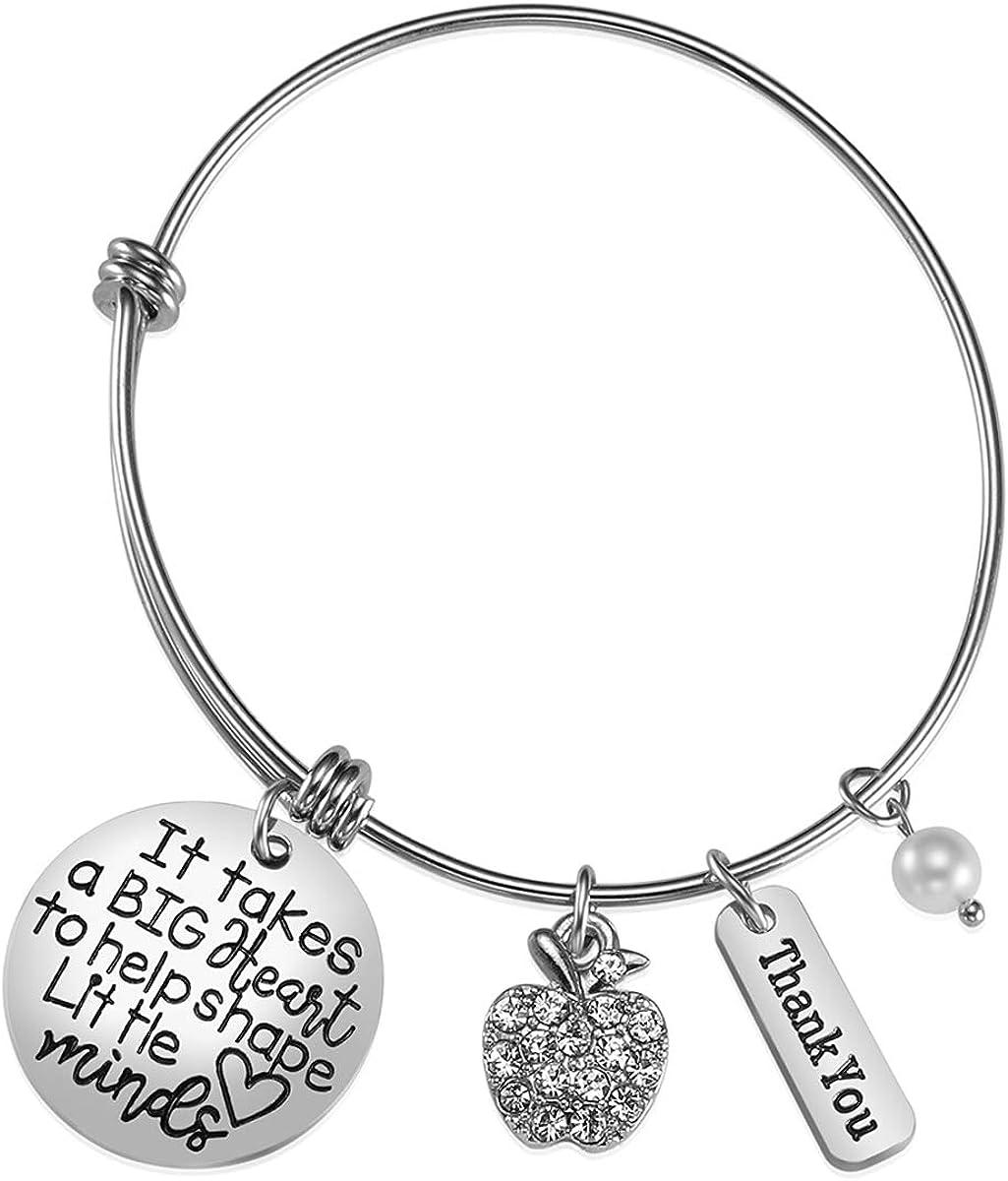 iJuqi Teacher Appreciation Gift - Teacher Bracelet for Women Thank You Gifts for Teachers