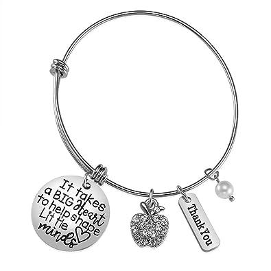 eeb7295ead963 Amazon.com: iJuqi Teacher Appreciation Gift - Teacher Bracelet for ...