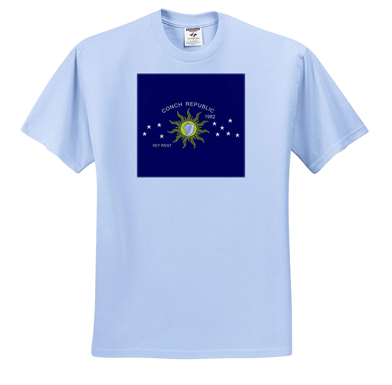 3dRose Macdonald Creative Studios The Flag of The Conch Republic of Key West Florida Key West - T-Shirts