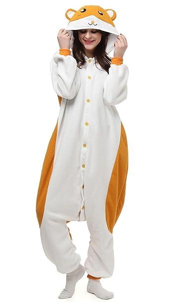 Auspicious beginning Unisex-adulto Hamtaro traje de Cosplay de los pijamas de dibujos animados Homewear desgaste del salón: Amazon.es: Ropa y accesorios