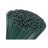 (250x0.7) 250 g verde lacados (300 Alambres) 25.4cm Floristerías Fino Stub Alambre Calibre 22