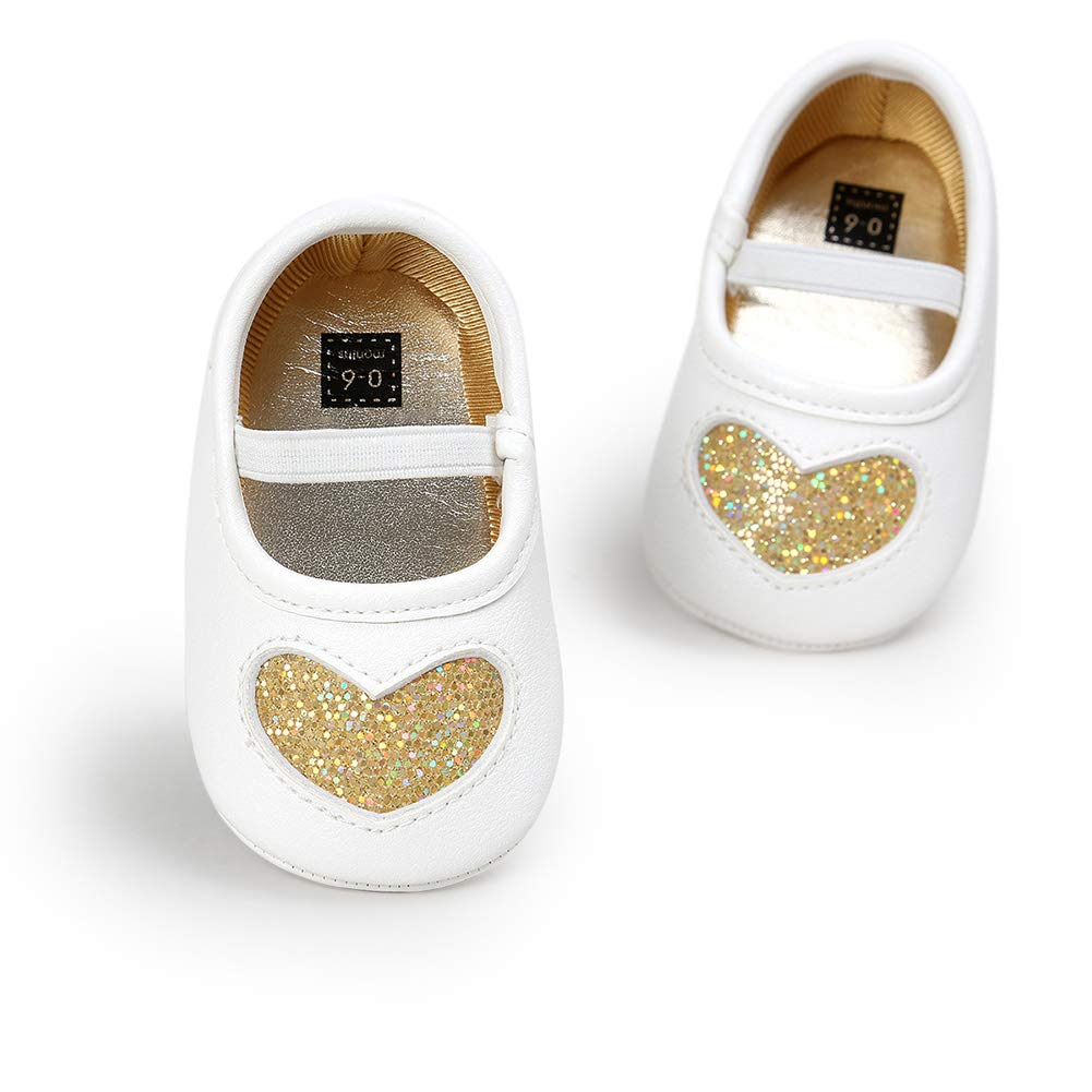 Alamana Fashion Love Heart Faux Leather Infant Baby Girl Soft Prewalker Toddler Shoes Red 11cm