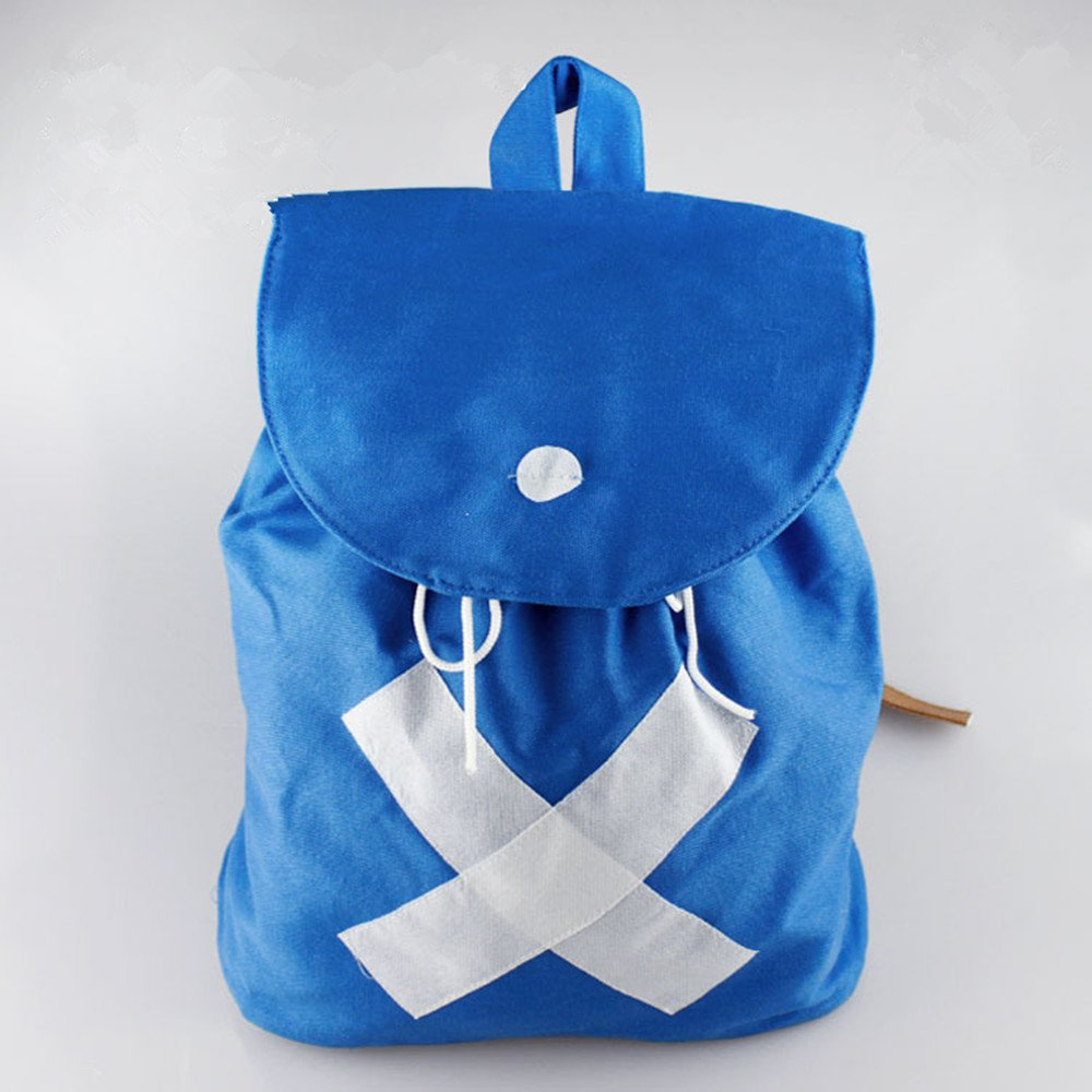 Anime One Piece Tony Chopper Blue Canvas Backpack Cosplay Shoulder School Bag