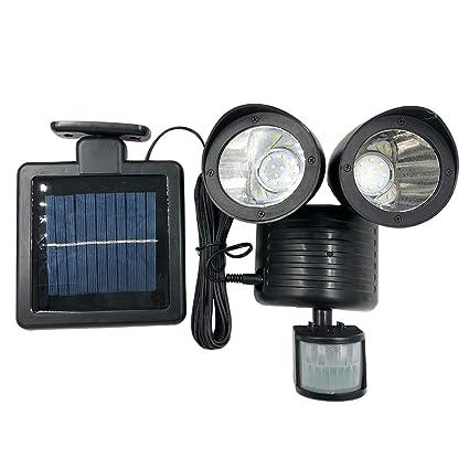 Amazon.com: Wireless Solar LED Spotlight con sensor de ...