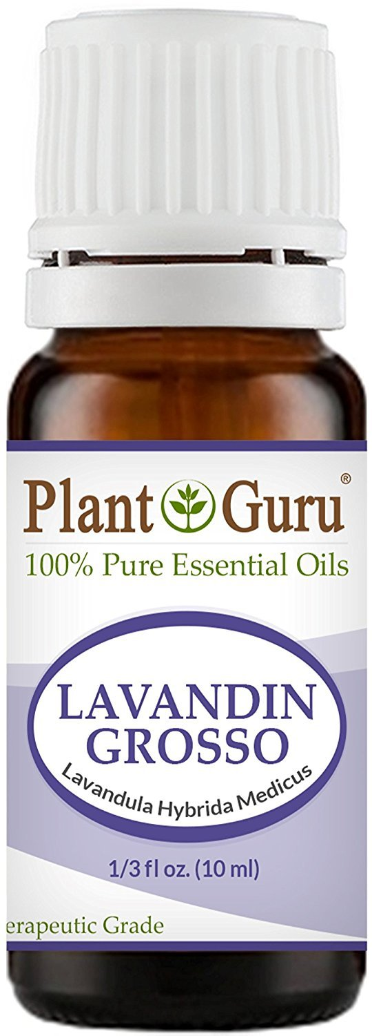 Lavandin Grosso Essential Oil 10 ml. 100% Pure, Undiluted, Therapeutic Grade. by Plant Guru   B015UE5X16