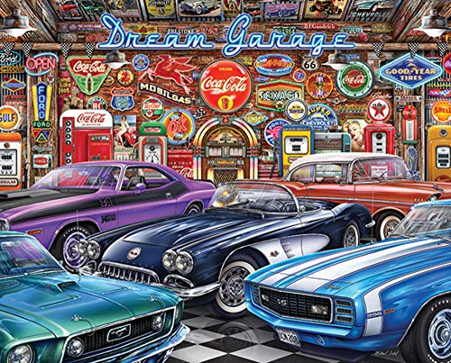(Springbok Puzzles - Dream Garage - 1000 Piece Jigsaw Puzzle - Large 24 Inches by 30 Inches Puzzle - Made in USA - Unique Cut Interlocking Pieces)
