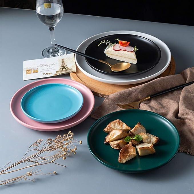 BonNoces - Platos de porcelana para cena (20 cm, 5 unidades ...
