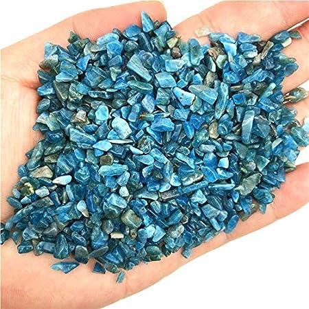 NO LOGO HYCSP Cristales 50g Natural tamaño pequeño Azul apatita Pulido Grava Piedras de Cristal de la Piedra Preciosa Natural del espécimen Decoración de Cuarzo Natural