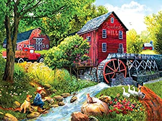 product image for Playing Hookey at The Mill 1000 Piece Jigsaw Puzzle by SunsOut