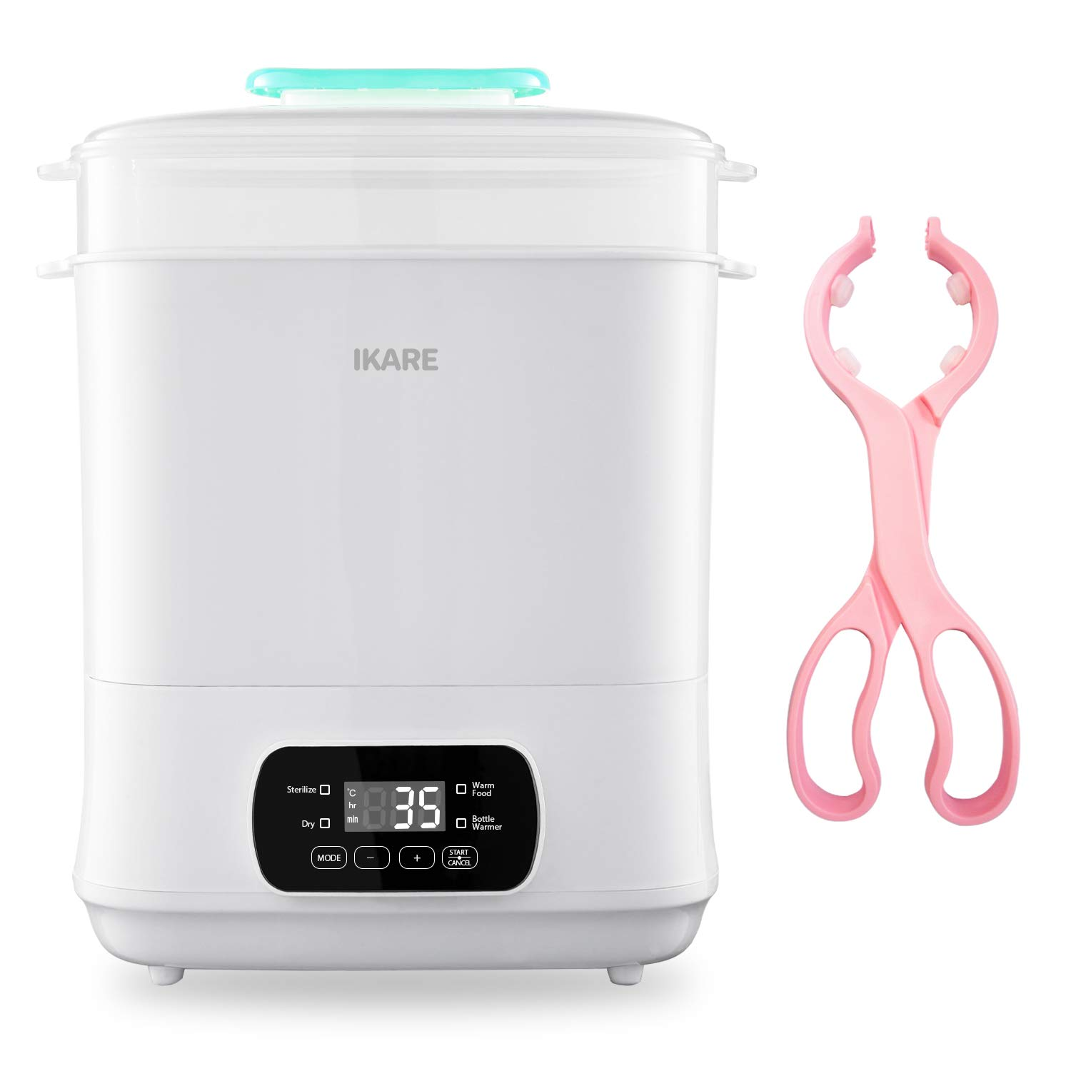 IKARE Baby Bottle Electric Steam Steri-lizer Dryer Machine 600W, Milk Warmer W/LED Monitor, Temperature Control & Auto Power-Off, 5-in-1 for Sterili-zing, Drying, Warming Breastmilk, Formula, Food