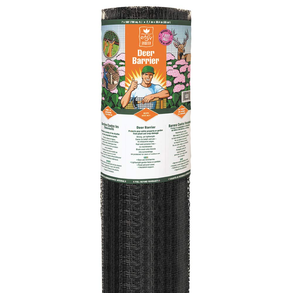 Easy Gardener LG400171 7-by-100-Foot Deer Barrier Fencing, 7 ft x 100 ft