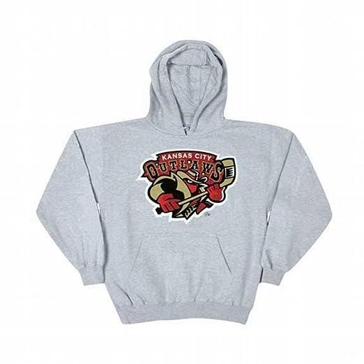 Kansas City Outlaws - Logo Grey Adult Hoodie at Amazon Men's