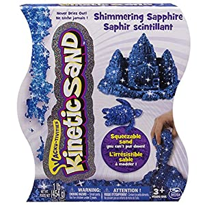 Kinetic Sand, 1lb Shimmering Blue Sapphire - 61PU9fq3EIL - Kinetic Sand, 1Lb Shimmering Blue Sapphire Magic Sand for Ages 3 & Up