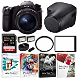 Sony DSC-RX10 III Cyber-shot Digital Still Camera, 64GB Sony Leather Case Kit