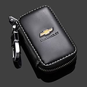 Wall Stickz Bearfire Leather Car Key Case Remote Control Package Auto Key Chains (fit Chevrolet)