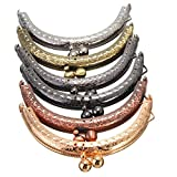 KINGSO 6PCS Retro Metal Frame Purse Bag Kiss Clasp Lock DIY Craft 8.5cm Assorted Beads
