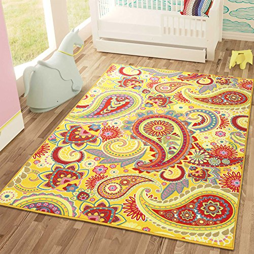 Sweet Home Stores SH3051-3X5 Yellow Area Rug