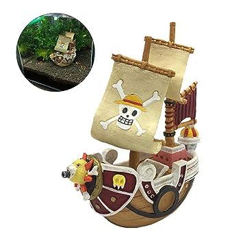 Winnerruby - Adornos de Resina para Acuario, diseño de Barco Pirata de imitación: Amazon.es: Hogar