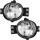 Driver and Passenger Fog Lights Lamps Replacement for Dodge Pickup Truck 55077475AE 55077474AE