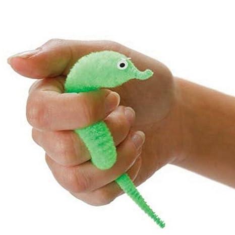 Juguete de peluche para niños con diseño de gusano y gusano magiciano trick Twisty Animals de