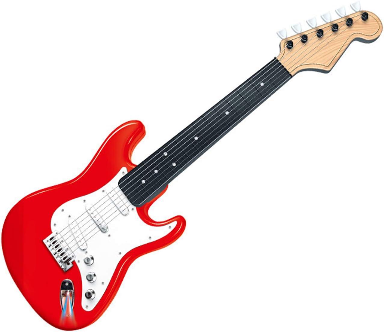 ZHX Guitarra eléctrica para Principiantes, Soprano Juguete Educativo, 24 x 6 x 66 cm, Diversión Aprender Guitarra Instrumento Musical de Cuerda para los niños de 6 7+