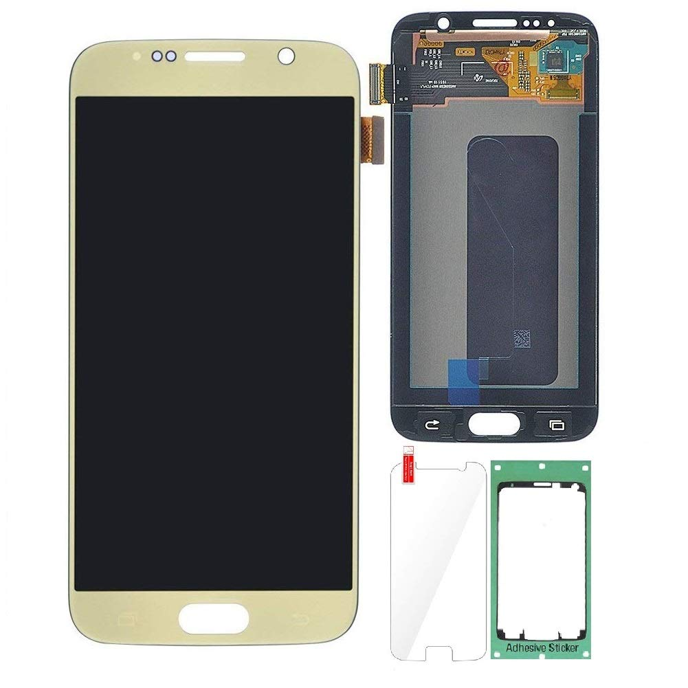 Display Touch Screen Digitizer Assembly Repair Replacement Part for Samsung Galaxy S6 G920.(Gold,5.1 inch)
