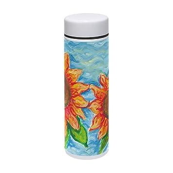 COOSUN Sunflowers Pintura Acero Inoxidable Termo Botella Agua Aislante Vacío Taza a Prueba de Fugas Doble