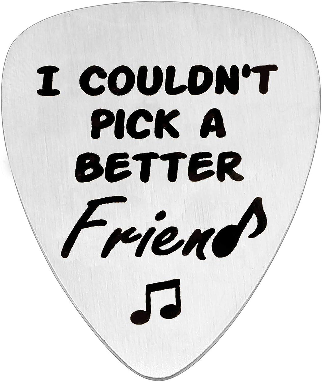 ACAROMAY Colgante de púa de Guitarra para la Amistad, Navidad a Larga Distancia, no podría Elegir un Mejor Amigo: Amazon.es: Joyería