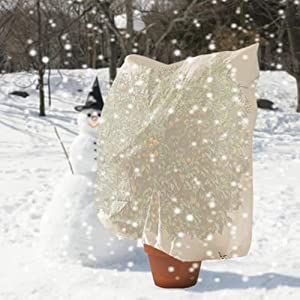QIYAT Plant Freeze Protection Covers - Outdoor Plant Frost Shrub Tree Blanket Bag for Winter Warm Worth, Anti Snow, Cold, Sun, and Growth Season M (31