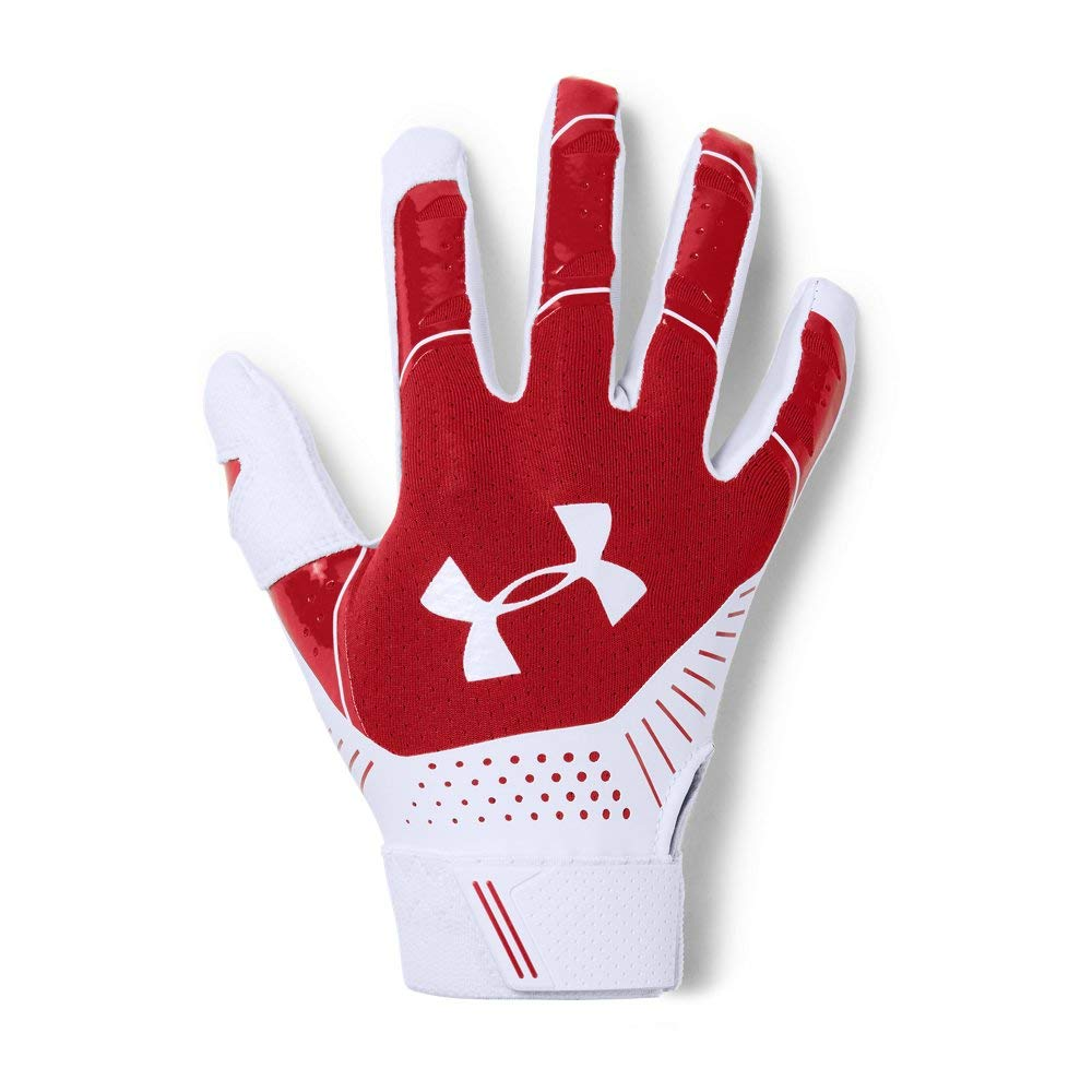 Under Armour Women's Motive Softball Gloves, Red (600)/White, Large