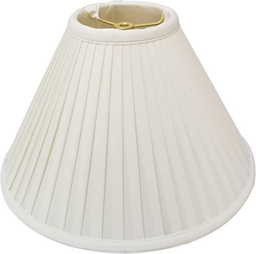 Royal Designs BS-727-20WH Coolie Empire Side Pleat Basic Lamp Shade, White, 7 x 20 x 12.5