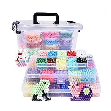 Recambio de cuentas de más de 4000 piezas de perlas mágicas para niños para manualidades, para principiantes, 10 colores: Amazon.es: Informática