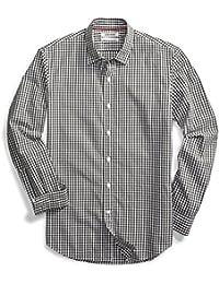 Men's Slim-Fit Long-Sleeve Gingham Shirt