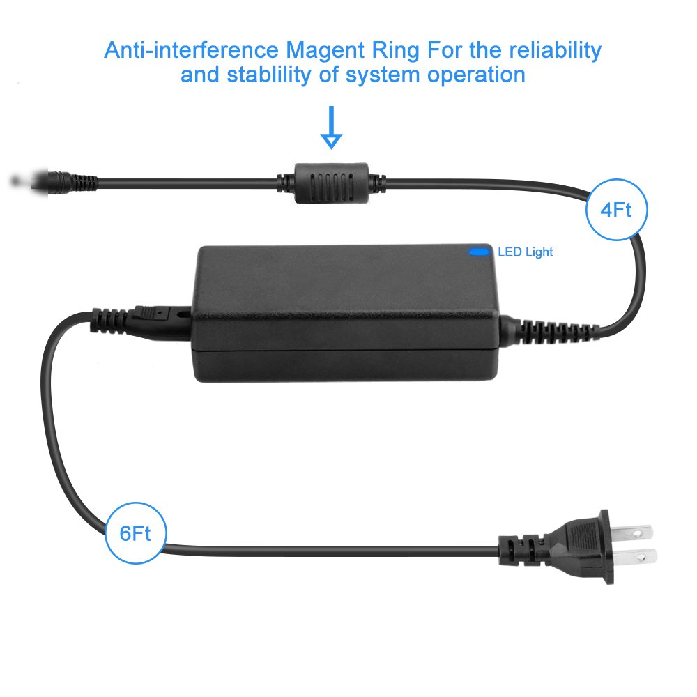 EPtech 24V AC/DC Adapter for Fargo HDP5000 DTC1000 DTC1250e DTC4000 DTC400 DTC4500 DTC550 DTC500 DTC300 HDP600 044100 X001500 C10 C11 C15 C16 C25 C30 M30 ID Card Printer 24VDC 2A-4A Power Supply by EPtech (Image #3)