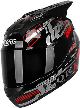 Kkmoon Integralhelm Helm Motorradhelm Dot Zugelassen Für Den Schutz Der Sicherheit Beim Motorradrennen Rot Blau Mit Sonnenblende Auto