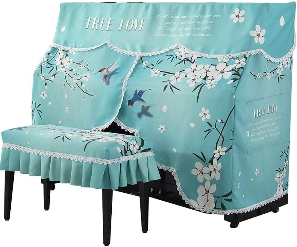 543/5000 ピアノカバー 刺繍プリントパターンアップライトピアノのフルカバーの印刷染色なしフェージング 一般防塵 (色 : 青, Size : 80x40cm)