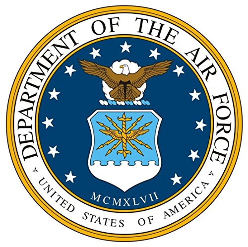 1 Set Excellently Fashionable United States Department of The Air Force Stickers Sign Car Decals Military Outdoor Size 12
