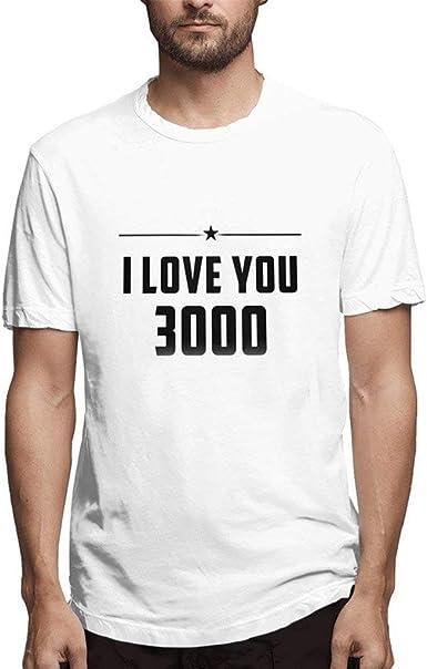 Camisetas Hombre riou Camisas de Manga Corta con Cuello Redondo y Estampado I Love You Three Thousand 3000 Love You Dad Ironman Heart Fans Shirt S-XXXL: Amazon.es: Ropa y accesorios