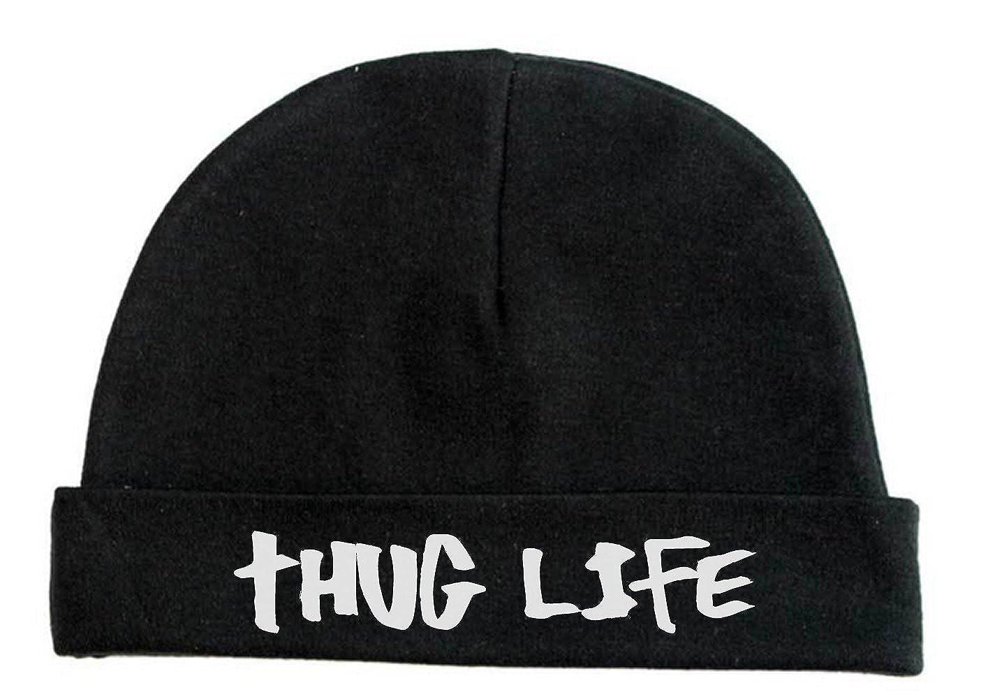 Lil Shirts Unisex Baby Thug Life Beanie Baby Bodysuit
