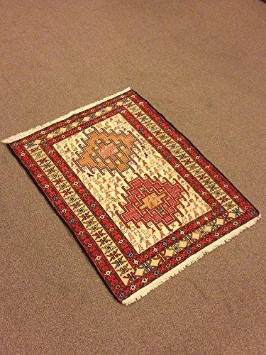 2.7x3.1 Feet Silk On Cotton Rug Shiny Rug Shiny Kilim (Kilim Silk Rug)