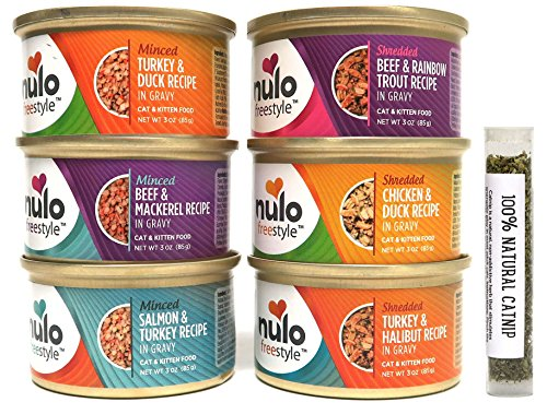 Nulo Freestyle Grain Free Wet Cat Food Variety Pack, 6 Flavors, 3 Oz Each (12 Total Cans)