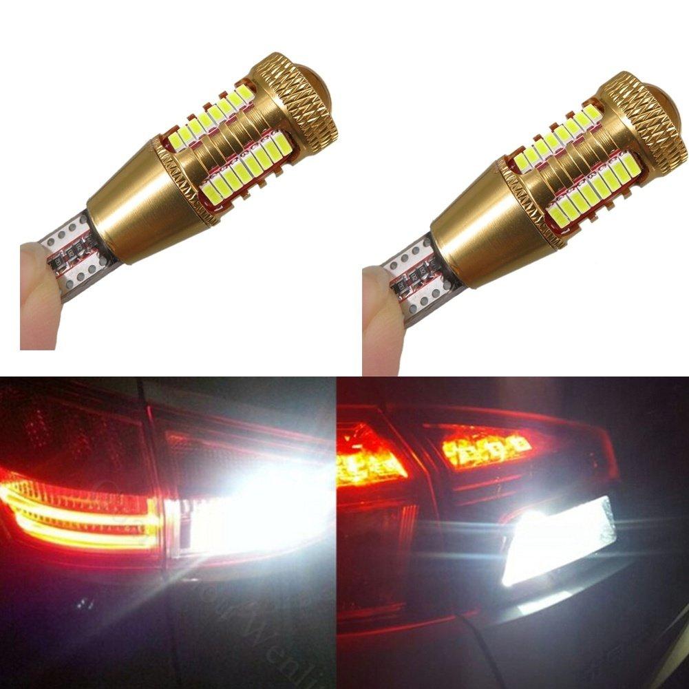 KATUR 2pcs DC12V Canbus Car LED W16W Led T15 4014 CREE SMD Lamps Backup Reverse Light Bulbs Led Car Light Sourcing Reverse Lights